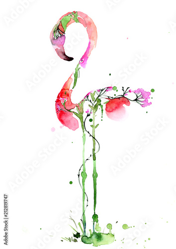 Spoed Foto op Canvas Schilderingen Flora and fauna