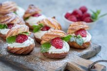 Raspberries Profiteroles With ...