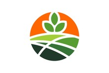 Plantation Garden Green Hill Sunrise Logo