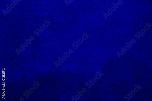 Fototapety, obrazy: abstract blue background of elegant dark blue vintage grunge background texture