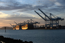 Port Of Oakland Sunset