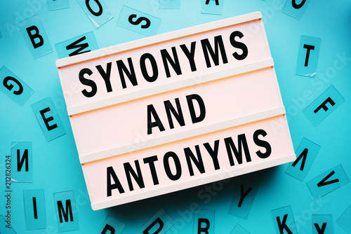 Synonyms and antonyms concept Wallpaper Mural