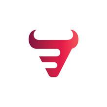 Bull Letter B Logo Design Template