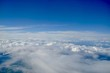 View from above clouds