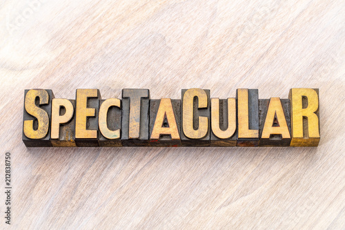 Obraz spectacular - word abstract in wood type - fototapety do salonu