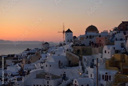 Fototapety, obrazy: サントリーニ島の夕陽