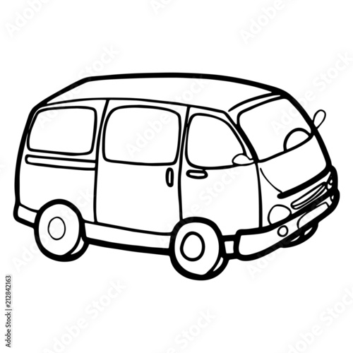 Cute Van Cartoon Illustration Isolated On White Background For Children  Color Book - Buy This Stock Vector And Explore Similar Vectors At Adobe  Stock Adobe Stock