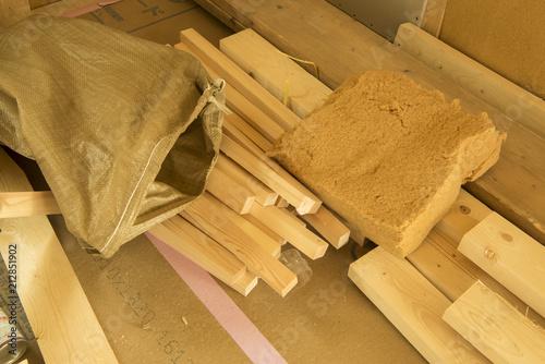 Fototapeta 木質繊維断熱材 ウッドファイバー obraz na płótnie