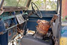 Vintage Old Car Grunge Interior
