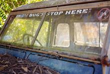 Vintage Old Car Grunge Exterior