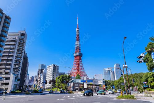 Canvas Prints Tokyo 赤羽橋交差点の風景
