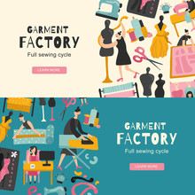 Garment Factory Horizontal Banners