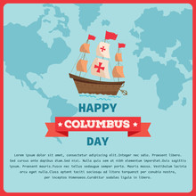 Happy Columbus Day Background ...