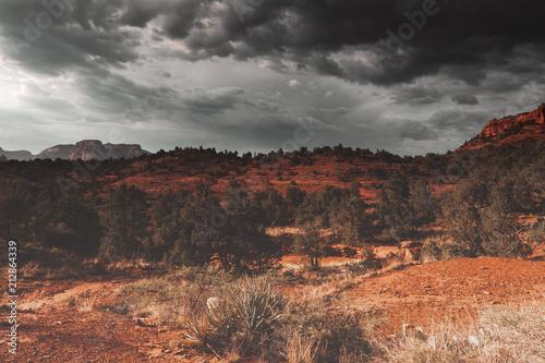 In de dag Diepbruine Sedona, Arizona, USA