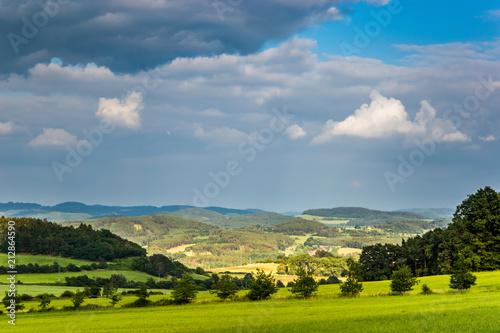 Fotografie, Obraz  Beautiful Czech countryside on summer day.