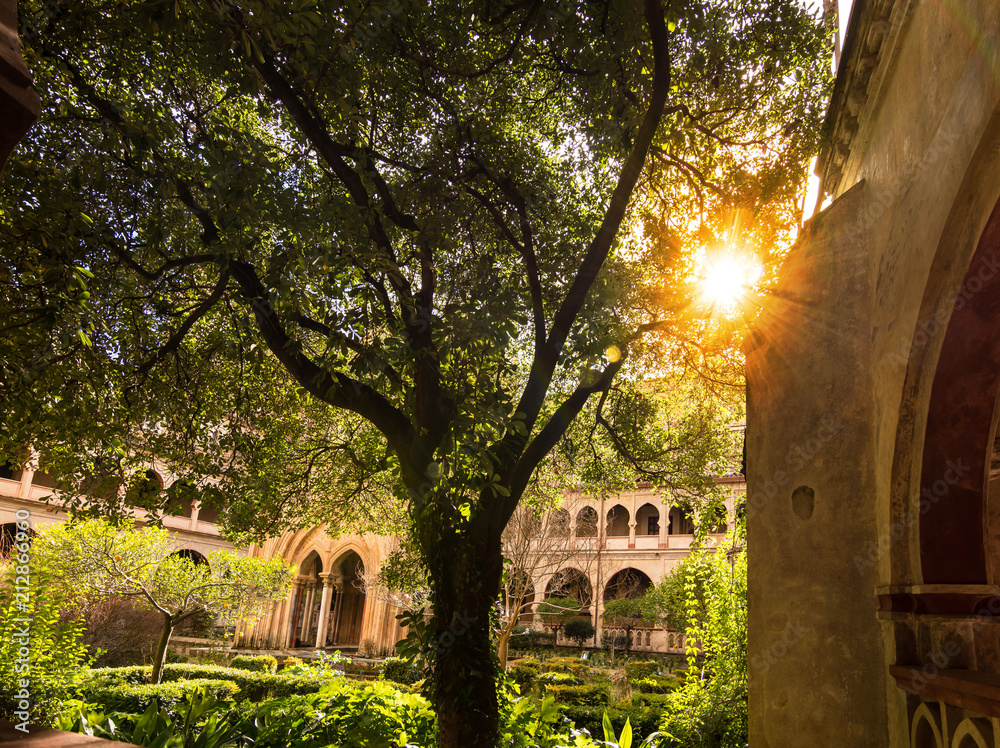 Fototapety, obrazy: Royal Monastery of Santa Maria de Guadalupe, province of Caceres, Extremadura, Spain