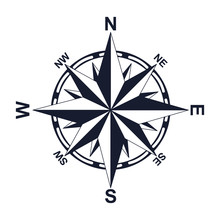 Compass. Direction. North West East South. For Your Design. Icon. An Object.