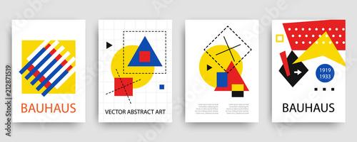 Tela Retro geometric bauhaus, memphis covers templates set