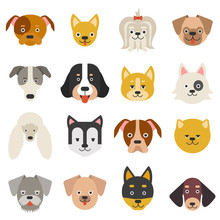 Heads Of Home Pets. Funny Dogs...