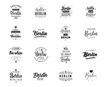 Greeting Cards, Vector Design. Isolated Logos. Typography Set.