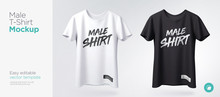Men's White And Black T-shirt ...