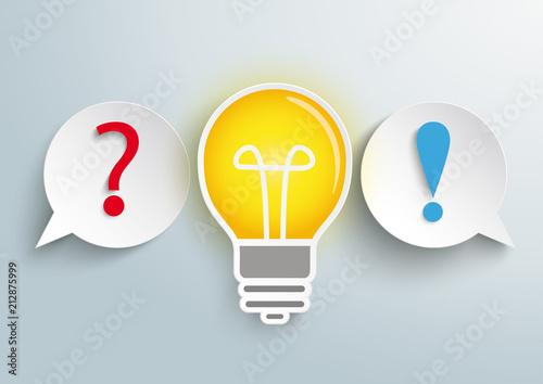 2 Speech Bubbles Question Bulb Answer Canvas Print