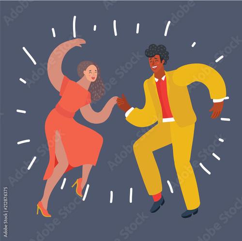 Dancer couple swing, bebop Wallpaper Mural