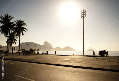Copacabana in the morning Canvas Print