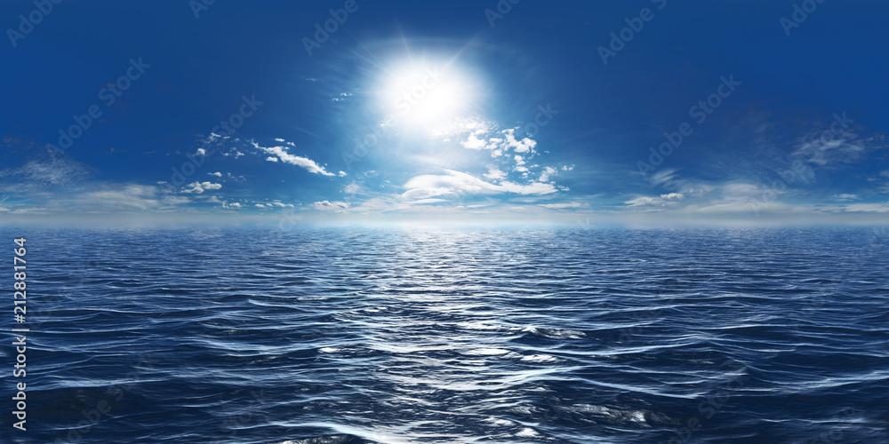 Fototapety, obrazy: Meer, Sonne und wenig Wolken 360° Panorama