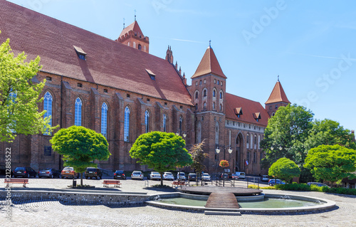Kwidzyn - a medieval castle of Teutonic Order and a cathedral