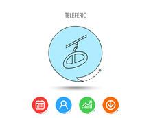 Teleferic Icon. Telpher Cable-...