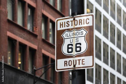 Foto op Canvas Amerikaanse Plekken Route 66 / Chicago