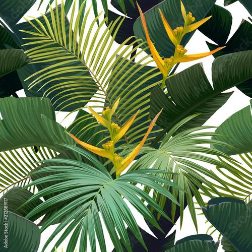 bezszwowa-reka-rysujacy-tropikalny-wektoru-wzor-z-ptakiem-raju-kwiaty-i-egzotyczni-palmowi-liscie-na-bialym-tle-vector-illus