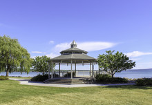 Gazebo In The Park. Canandaigua Lake, New York