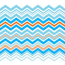 Colorful Chevron Ornament Geometric Abstract Seamless Border, Vector
