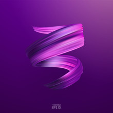 Vector Illustration: 3d Purple...