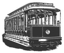 Tram / Streetcar Philadelphia #vector #isolated - Straßenbahn