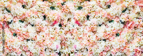Foto op Canvas Bloemen rose flowers are white and pink. background of garden flowers