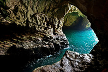 Grottoes In Rosh Hanikra On Th...