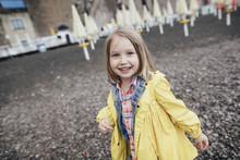 Portrait Of Happy Little Girl ...