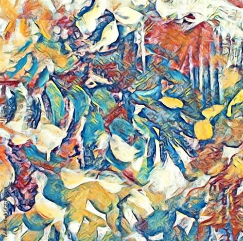 Foto op Plexiglas Paradijsvogel Abstract texture. Design background. Colorful art pattern. Digital painting graphic artwork. Template for print decoration.