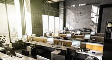 Großraumbüro Mit Mehreren Ar...