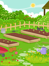 Garden Setting Illustration