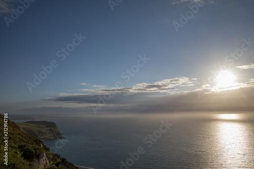 Plakát  Sonnenuntergang an der Küste von Wales