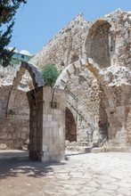 The  Ruins Of The St. Mary Germanica Hospital In The Old City Of Jerusalem, Israel