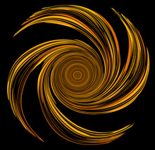 Dessin D'une Hélice En Forme De Spirale En Ocre Jaune