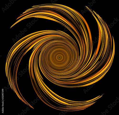 Dessin d'une hélice en forme de spirale en ocre jaune Canvas Print