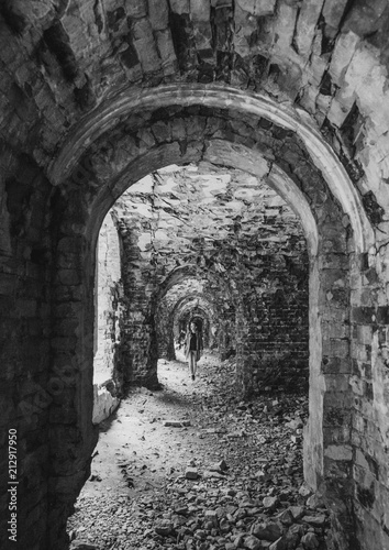 Poster Ruine tourist ruins military fort architecture arch walls