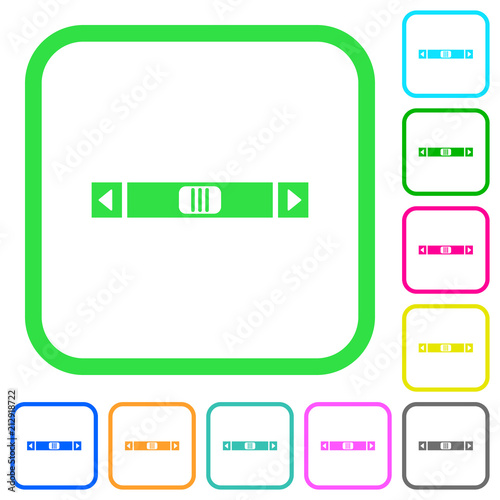 Horizontal Scroll Bar Vivid Colored Flat Icons Buy This Stock