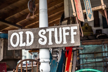"Vintage ""Old Stuff"" Wood S..."